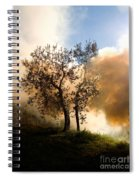 Bonfire And Olive Tree Spiral Notebook