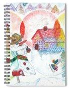 Bonnefemme De Neige / Snow Woman Spiral Notebook