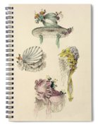 Bonnets For An Occasion, Fashion Plate Spiral Notebook