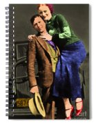Bonnie And Clyde 20130515 Spiral Notebook