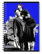 Bonnie And Clyde March 1933 1932 Ford V-8 B-400 Convertible Sedan 1933-2013 Spiral Notebook