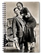 Bonnie And Clyde - Texas Spiral Notebook