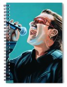 Bono Of U2 Painting Spiral Notebook