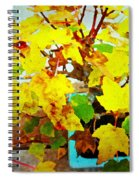 Bonsai Tree With Yellow Leaves Spiral Notebook