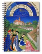 Book Of Hours: April Spiral Notebook
