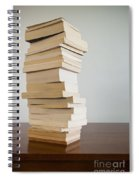 Book Stack On Table Spiral Notebook