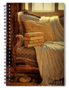 Books On Victorian Sofa Spiral Notebook