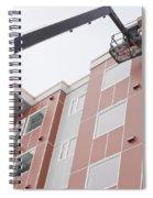 Boom Lift Worker Work Apartment Highrise Exterior Spiral Notebook