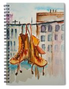 Boots On A Wire Spiral Notebook