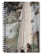 Boots On Narrow Swing Bridge Over White Water Spiral Notebook