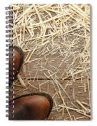 Boots On Wood Spiral Notebook
