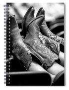 Boots Up - Bw Spiral Notebook