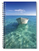 Bora Bora White Boat Spiral Notebook