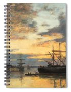 Bordeaux In The Harbor Spiral Notebook