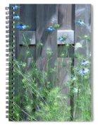 Bordering Nigella  Spiral Notebook