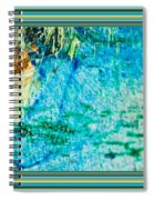 Borderized Abstract Ocean Print Spiral Notebook