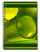 Borderized Horsetail Print Spiral Notebook