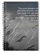 Born Of The Spirit Spiral Notebook