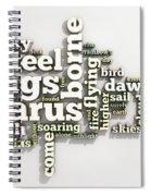 Borne On Wings Of Steel Spiral Notebook