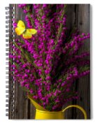 Boronia With Yellow Butterfly Spiral Notebook