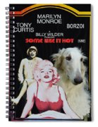 Borzoi Art - Some Like It Hot Movie Poster Spiral Notebook