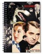 Borzoi Art - Suspicion Movie Poster Spiral Notebook