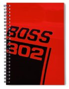 Boss 302 Emblem On A Car Spiral Notebook