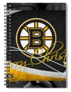 Boston Bruins Christmas Spiral Notebook