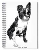 Boston Bull Terrier Spiral Notebook
