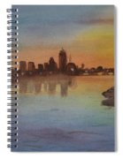Boston Charles River At Sunset  Spiral Notebook