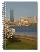 Boston Charles River On A Spring Day Spiral Notebook