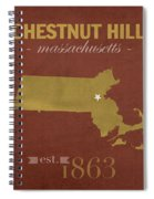 Boston College Eagles Chestnut Hill Massachusetts College Town State Map Poster Series No 020 Spiral Notebook