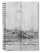 Boston Harbor, 1778 Spiral Notebook