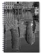 Boston Harbor Reflections Spiral Notebook