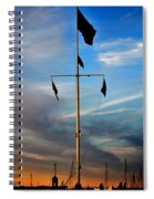 Boston Harbor Twilight Spiral Notebook