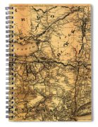 Boston Hoosac Tunnel And Western Railway Map 1881 Spiral Notebook