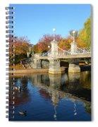 Boston Public Garden Autumn Spiral Notebook