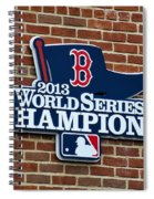 Boston Red Sox World Champions Spiral Notebook