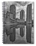 Boston Reflections Bw Spiral Notebook