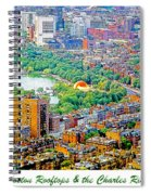 Boston Rooftops And The Charles River Spiral Notebook