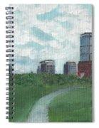 Boston Skyline 1968 Spiral Notebook