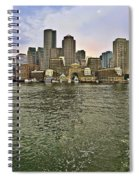 Boston Skyline At Sunset Spiral Notebook