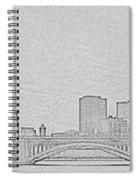 Boston Skyline Stencil Spiral Notebook