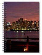 Boston Skyline Sunset Spiral Notebook