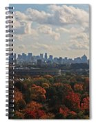 Boston Skyline View From Mt Auburn Cemetery Spiral Notebook