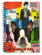 Boston Terrier Art - 30 Years Of Fun Movie Poster Spiral Notebook
