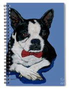 Boston Terrier With A Bowtie Spiral Notebook