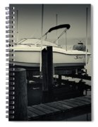 Boston Whaler In The Fog Spiral Notebook