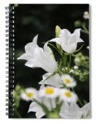Botanical Beauty In White Spiral Notebook