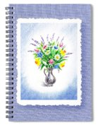 Botanical Impressionism Watercolor Bouquet Spiral Notebook